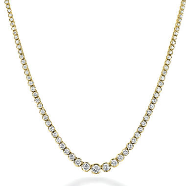 12.5 ct. t.w. Diamond Riviera Necklace in 14K Yellow Gold (H-I, I1)