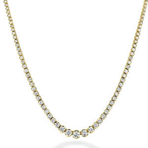 13 ct. t.w. Diamond Riviera Necklace in 14K Yellow Gold (H-I, I1)