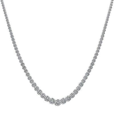 15 ct. t.w. Diamond Riviera Necklace in 14K White Gold (H-I, I1)