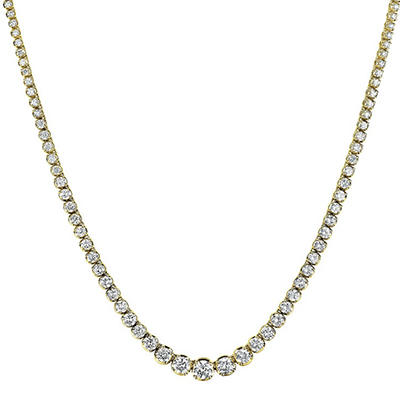 15 ct. t.w. Diamond Riviera Necklace in 14K Yellow Gold (H-I, I1)