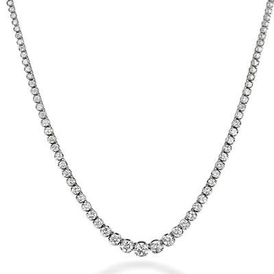 15.5 ct. t.w. Diamond Riviera Necklace in 14K White Gold (H-I, I1)