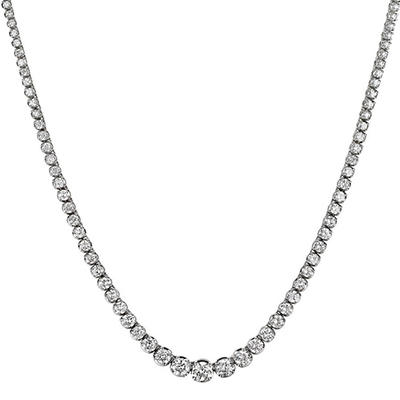 16 ct. t.w. Diamond Riviera Necklace in 14K White Gold (H-I, I1)