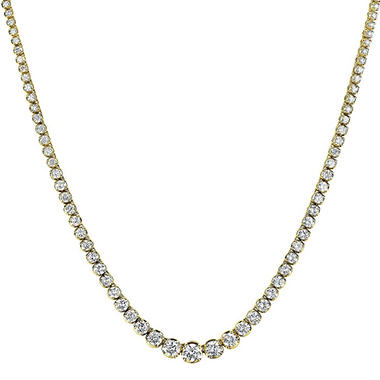 16 ct. t.w. Diamond Riviera Necklace in 14K Yellow Gold (H-I, I1)