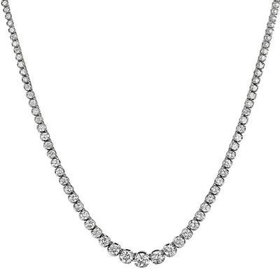 20 ct. t.w. Diamond Riviera Necklace in 14K White Gold (H-I, I1)