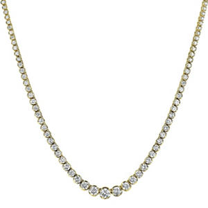 20 ct. t.w. Diamond Riviera Necklace in 14K Yellow Gold (H-I, I1)
