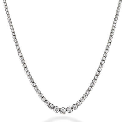 21 ct. t.w. Diamond Riviera Necklace in 14K White Gold (H-I, I1)