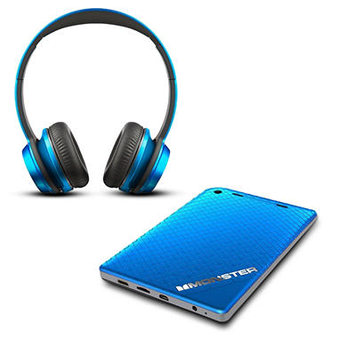 "Monster 7"" Tablet w/ 32GB Memory and Monster N-Tunes HD Headphones - Blue"