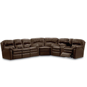Lane Furniture Henry Top-Grain Leather Reclining Sectional Sofa