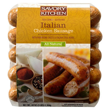 Savory Kitchen Italian Chicken Sausage with Provolone - 48 oz.