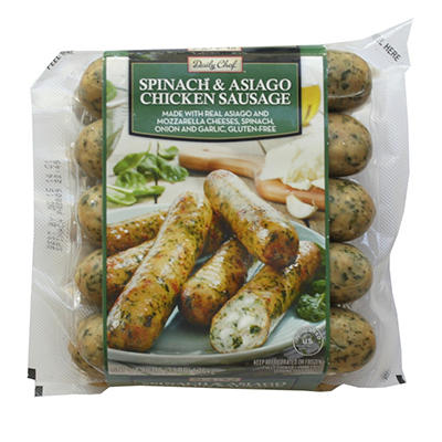 Savory Kitchen Spinach & Asiago Chicken Sausage - 48 oz.