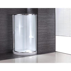 "OVE Decors 31"" Breeze Shower Kit with Glass Panels, Walls and Base"