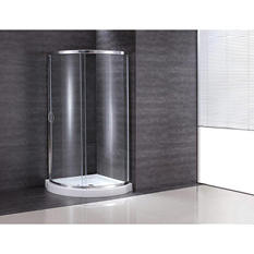 Ove Decors Breeze 36in Shower Kit with PARIS Glass Panels & Base