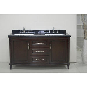 "OVE Decors Rose 60"" Double Vanity with Granite Countertop"