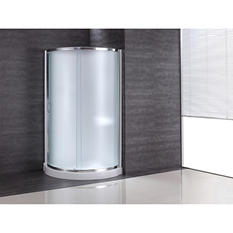Ove Decors Breeze 34in Shower Kit with PARIS Glass Panels & Base