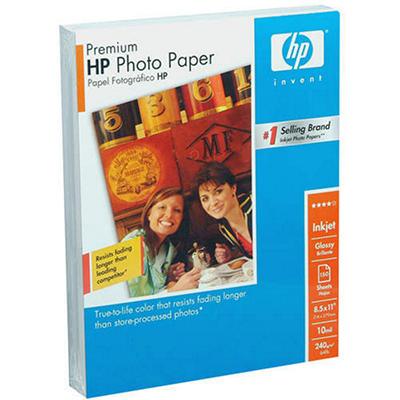 "HP Premium Glossy Photo Paper - 8.5"" x 11"" - 150 Sheets"