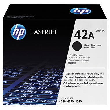 HP 42A Original LaserJet Toner Cartridge, Black (10000 Page Yield)