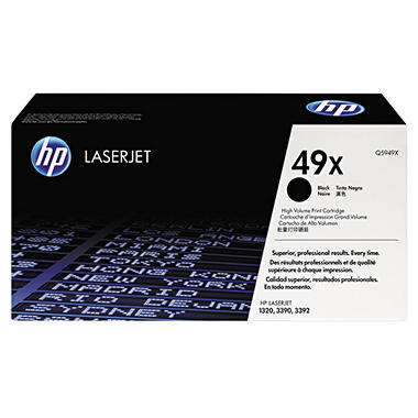 HP 49X Original Laser Jet Toner Cartridge, Black, Select Type