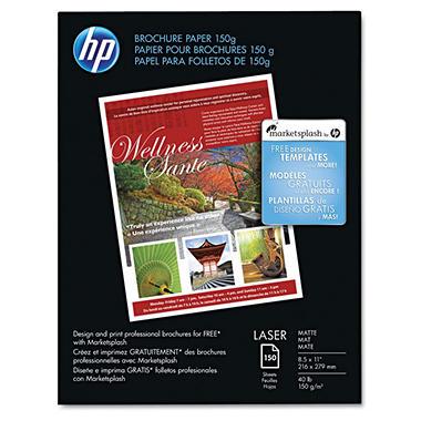 HP - Brochure Paper, Laser, 40lb, 8-1/2 x 11