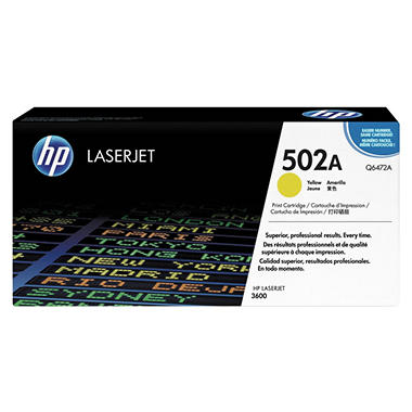 HP Q6472A LaserJet Toner Cartridge - Yellow