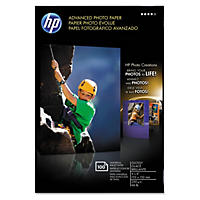 HP Advanced Photo Paper, Glossy, 4 x 6, 100 Sheets/Pack
