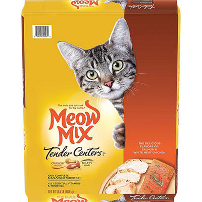 Meow Mix Tender Centers Cat Food - Salmon & Chicken - 15.5 lbs.