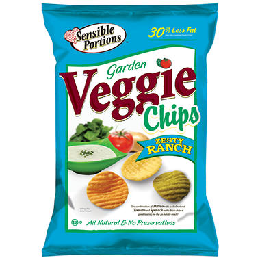 Sensible Portions Zesty Ranch Veggie Chips - 18 oz. - Sam ...