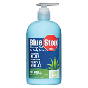Blue Stop Max Massage Gel (16 fl. oz.)