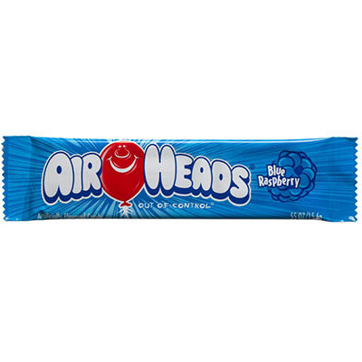 Airheads Blue Raspberry Flavored Candy - .55 oz. Bar - 36 ct.