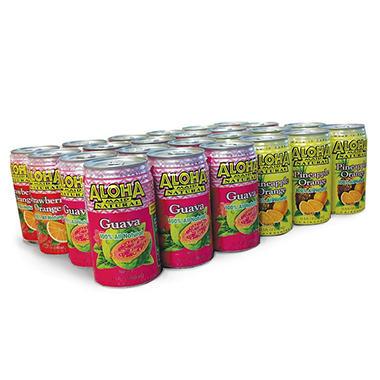 Aloha Maid Assorted Juice Pack - 24/11.5 oz. cans