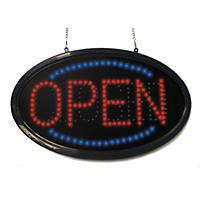 Mystiglo Oval LED Open-Closed Sign