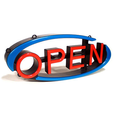 Mystiglo Multi-Directional LED Open Sign
