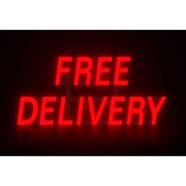 Mystiglo In-Light LED Free Delivery Sign