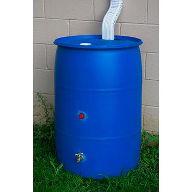 55 Gallon Big Blue Recycled Rain Barrel Sam S Club