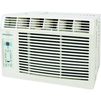 Keystone 6,000 BTU 115-Volt Window-Mounted Air Conditioner