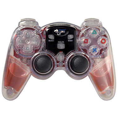 dreamGEAR Red Wireless Lava Glow Controller for the PS2