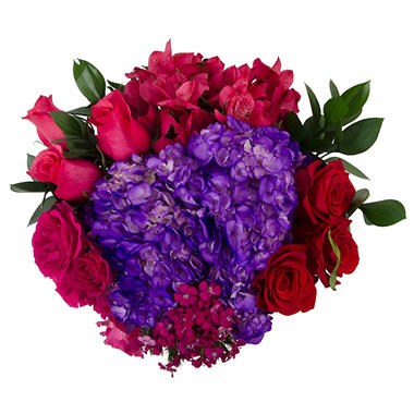 """Valentine Wishes"" Fresh Cut Flowers Bouquet"