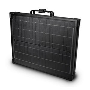 40-Watt Solar Panel in Folding Briefcase Style for 12-Volt Charging
