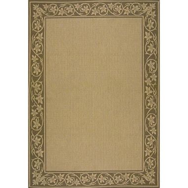 All Weather Ivy Border Outdoor Rug 8 x 11 Sam s Club