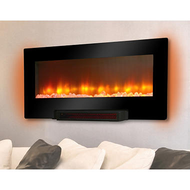 Grand Aspirations Electric Flat Panel Infrared Fireplace
