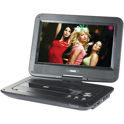 "Naxa 10"" LCD Swivel Screen Portable DVD Player"