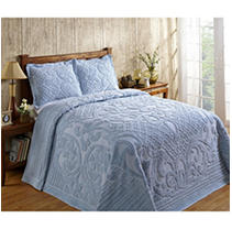 Click here for Ashton Bedspread Queen -Blue prices