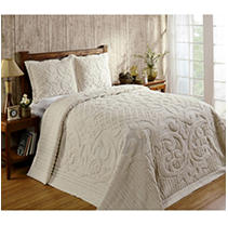 Click here for Ashton Bedspread Twin-Ivory prices