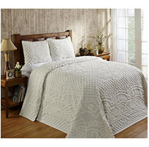 Click here for Trevor Bedspread with Shams King - Natural prices