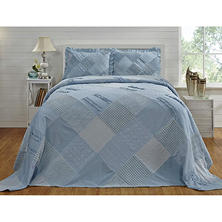 Chenille Patchwork Bedspread - Various Sizes (Shams Sold Separately)