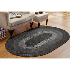 CountryBraid Stripe Black Braided Rug