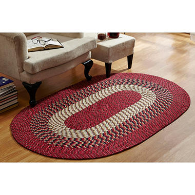CountryBraid Stripe Barn Red Braided Rug