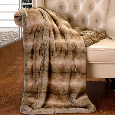 Faux Fur Throw, Various Colors