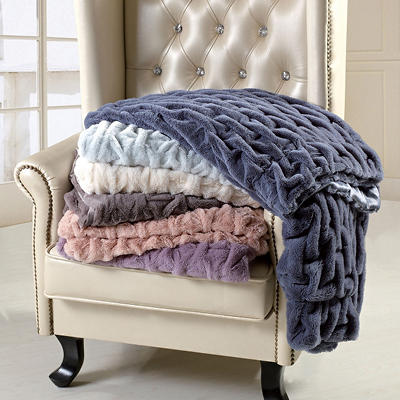 "Ruched Throw - 60"" x 70"" - Various Colors"