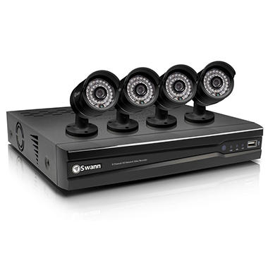 *$399 after $100 Tech Savings* Swann 8 Channel 720p HD Security System with 1TB Hard Drive, 4 High Definition Cameras, and 82' Night Vision