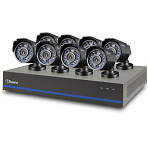 Swann 8 Channel Security System with 1TB Hard Drive,  8 1MP Cameras, 720P DVR, and 82' Night Vision